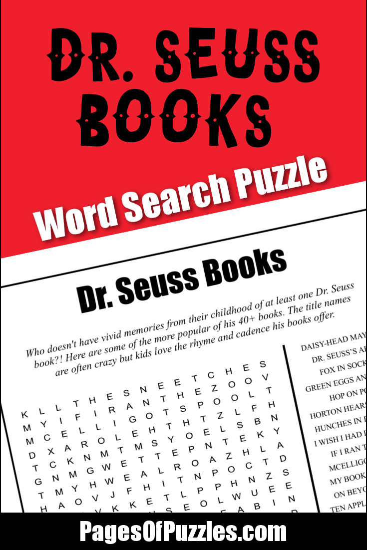 photograph about Dr Seuss Word Search Printable identified as Dr. Seuss Guides Phrase Appear Web pages of Puzzles
