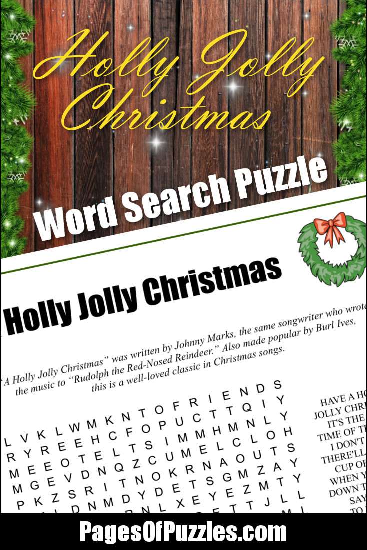 A Holly Jolly Christmas Word Search – Pages of Puzzles