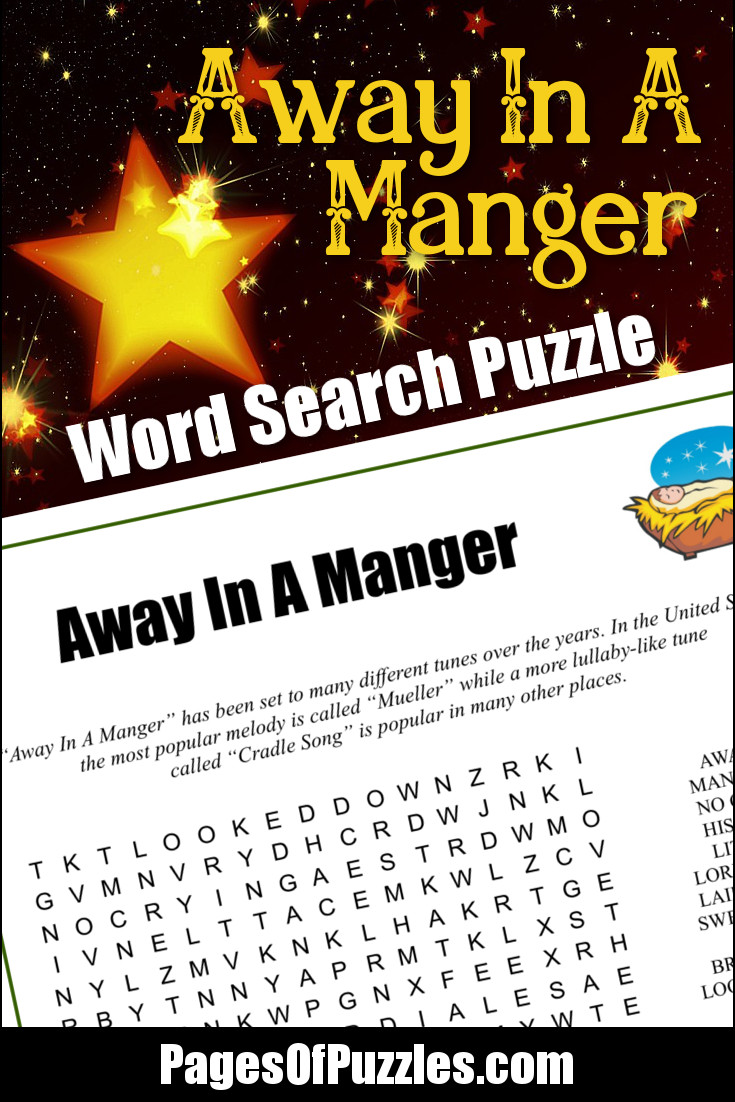 Away In A Manger Word Search