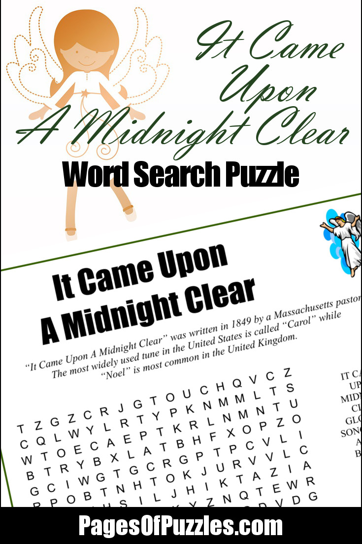 photograph regarding Printable Word Fill Ins Puzzles titled It Arrived On A Midnight Very clear Term Glance Webpages of Puzzles
