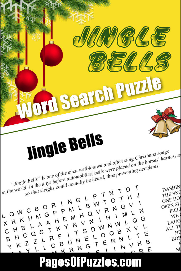 Jingle Bells Word Search – Pages of Puzzles