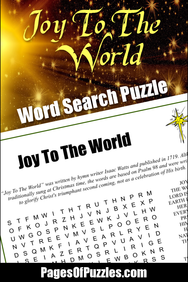 Joy To The World Word Search – Pages of Puzzles