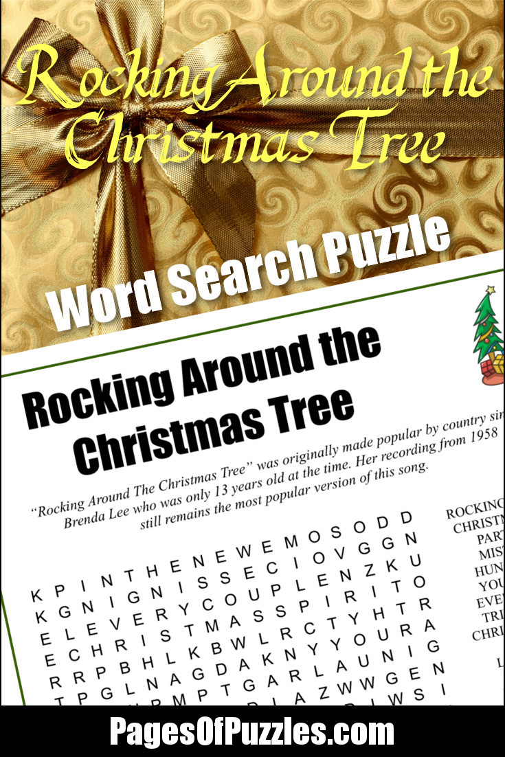 Rockin Around The Christmas Tree Brenda Lee Lyrics.Rocking Around The Christmas Tree Word Search Pages Of Puzzles