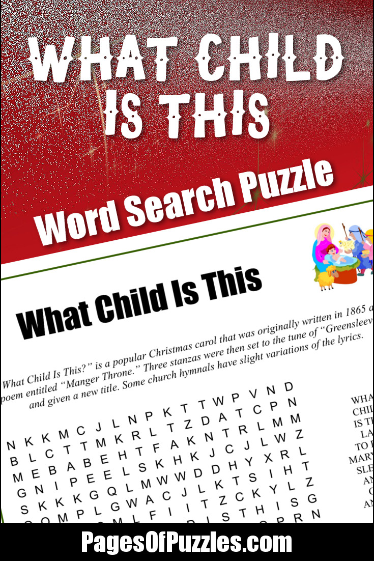 What Child Is This Word Search