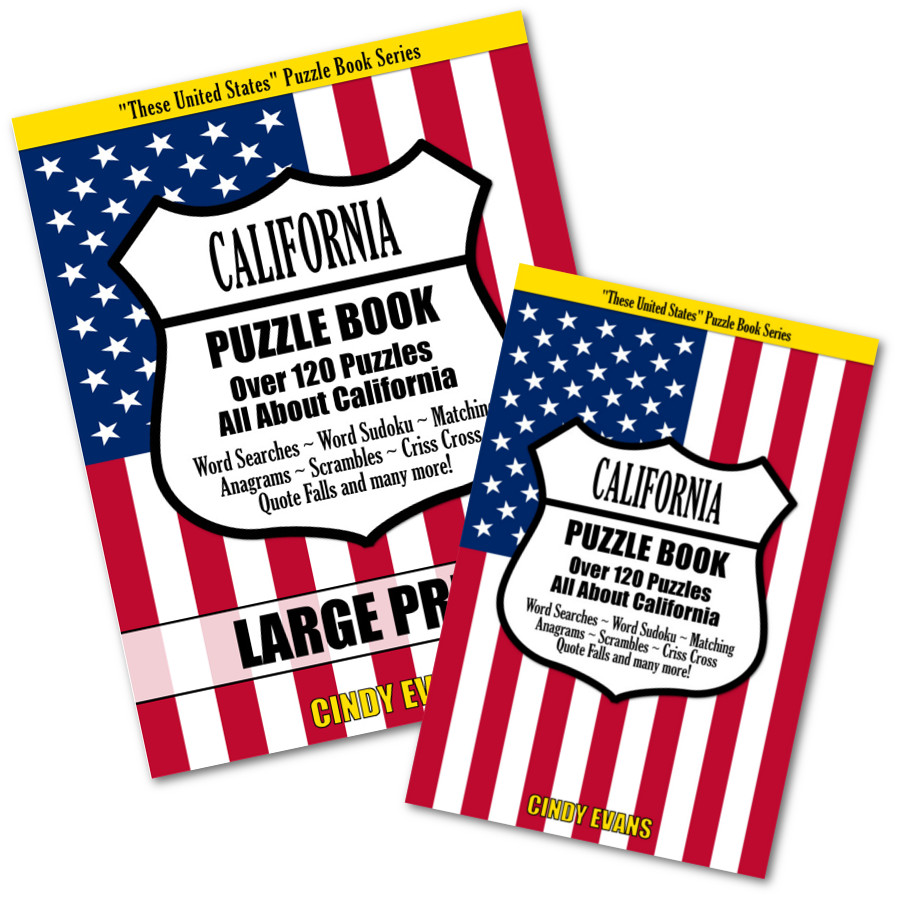California Word Puzzle Books from PagesOfPuzzles.com