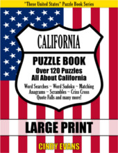 California Large Print Puzzle Book from PagesOfPuzzles.com