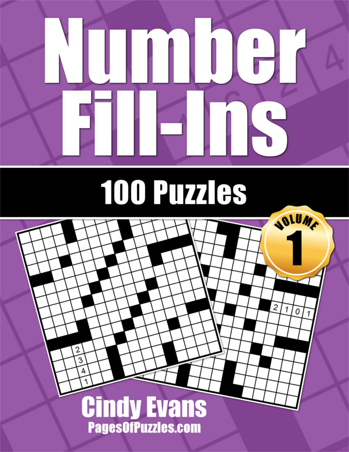 Number Fill-Ins Puzzle Book Volume 1 from PagesOfPuzzles.com