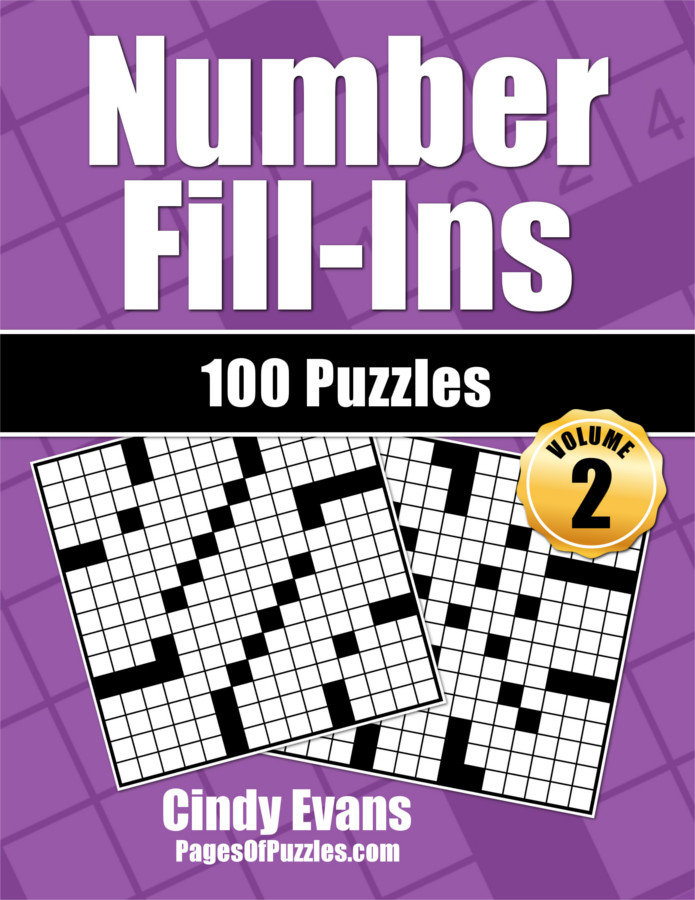 Number Fill-Ins Puzzle Book Volume 2 from PagesOfPuzzles.com
