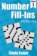 Number Fill-Ins Puzzle Book 1 from PagesOfPuzzles.com