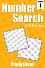 Number Search Puzzle Book 1 from PagesOfPuzzles.com