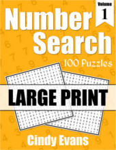 Number Search Large Print Puzzle Book 1 from PagesOfPuzzles.com