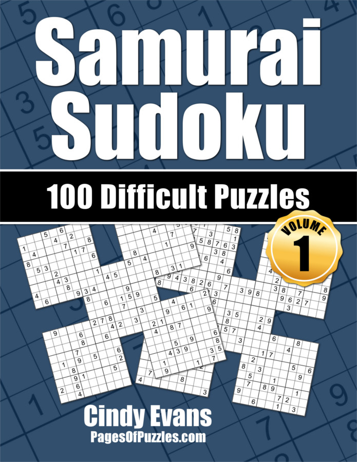 Samurai Sudoku Difficult Puzzle Book Volume 1 from PagesOfPuzzles.com