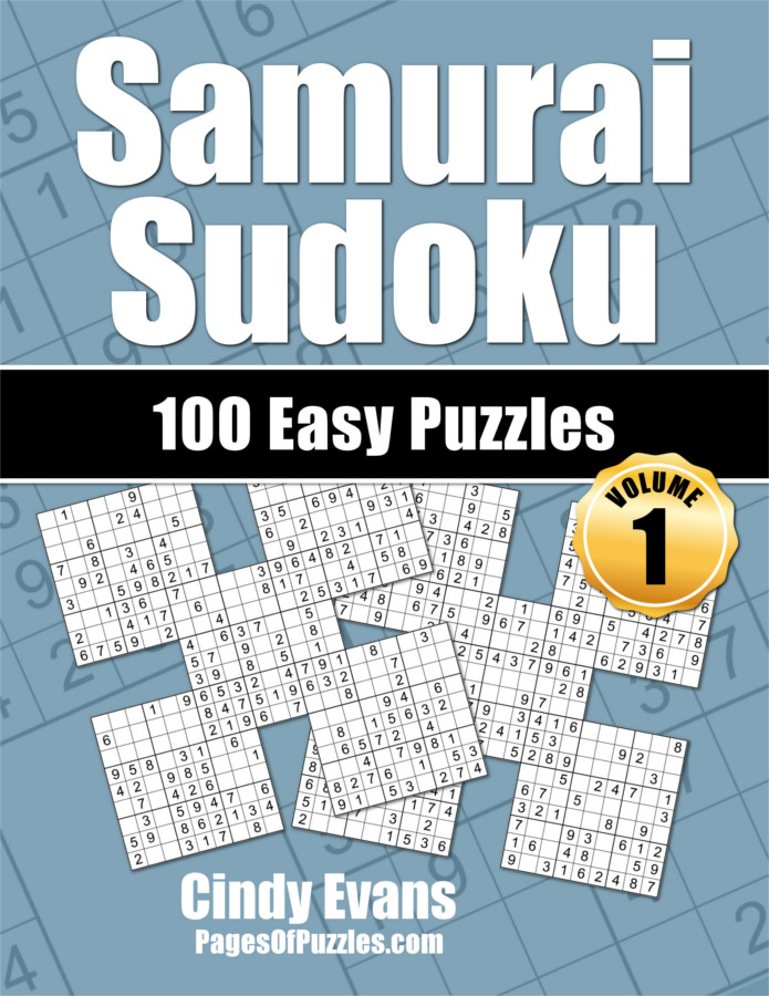 Samurai Sudoku Easy Puzzle Book Volume 1 from PagesOfPuzzles.com