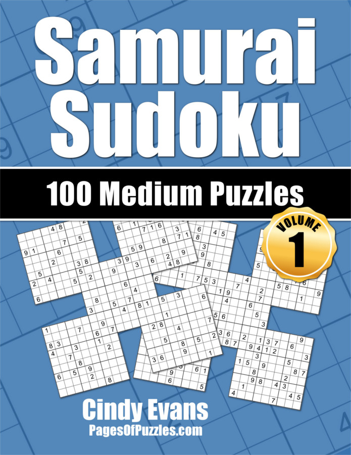 Samurai Sudoku Medium Puzzle Book Volume 1 from PagesOfPuzzles.com