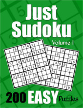 Just Sudoku Easy Puzzle Book Volume 1 from PagesOfPuzzles.com