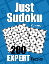 Just Sudoku Expert Puzzle Book Volume 1 from PagesOfPuzzles.com