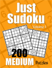 Just Sudoku Medium Puzzle Book Volume 1 from PagesOfPuzzles.com