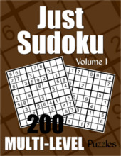 Just Sudoku Multi-Level Puzzle Book Volume 1 from PagesOfPuzzles.com