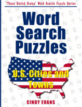 U.S. Cities and Towns Word Search Puzzle Book from PagesOfPuzzles.com