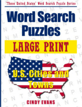 U.S. Cities and Towns Large Print Word Search Puzzle Book from PagesOfPuzzles.com