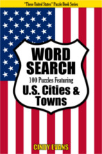 U.S. Cities Word Search Puzzle Book from PagesOfPuzzles.com