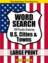 U.S. Cities Word Search Large Print Puzzle Book from PagesOfPuzzles.com