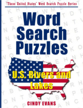 U.S. Rivers and Lakes Word Search Puzzle Book from PagesOfPuzzles.com
