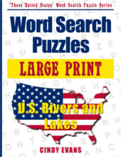 U.S. Rivers and Lakes Large Print Word Search Puzzle Book from PagesOfPuzzles.com