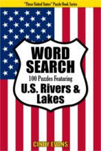 U.S. Rivers Word Search Puzzle Book from PagesOfPuzzles.com