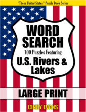 U.S. Rivers Word Search Large Print Puzzle Book from PagesOfPuzzles.com
