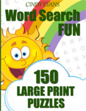 Word Search FUN Puzzle Book from PagesOfPuzzles.com
