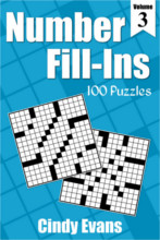 Number Fill-Ins Puzzle Book 3 from PagesOfPuzzles.com
